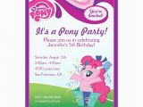 Pinkie Pie Birthday Invitations My Little Pony Pinkie Pie Birthday Party Card Pinkie Pie
