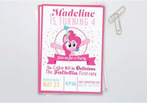 Pinkie Pie Birthday Invitations Pinkie Pie Birthday Invitation Digital File