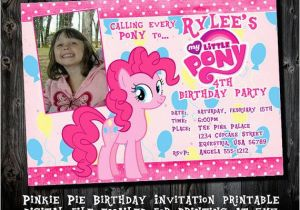 Pinkie Pie Birthday Invitations Pinkie Pie Birthday Party Invitations Printable Party