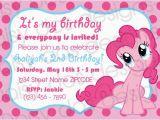 Pinkie Pie Birthday Invitations Pinkie Pie Party Invitation My Little Pony Only 10 to