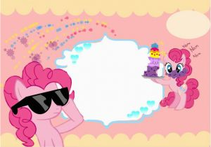 Pinkie Pie Birthday Invitations Pinky Pie Birthday Invitation Card Template Manga