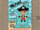 Pirate 1st Birthday Invitations 1st Birthday Invitation Pirate Birthday Invitations