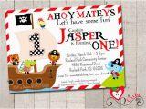Pirate 1st Birthday Invitations Free Birthday Pirate theme Invitation orderecigsjuice Info