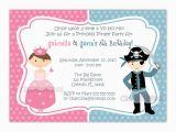 Pirate and Princess Birthday Invitations Free Printable Princess and Pirate Birthday Party