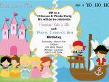 Pirate and Princess Birthday Invitations Pirate and Princess Birthday Invitation Digital File