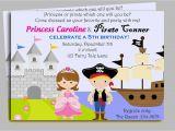Pirate and Princess Birthday Invitations Pirate and Princess Invitation Printable or by thatpartychick