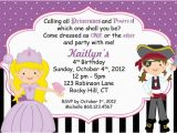 Pirate and Princess Birthday Invitations Pirate and Princess Party Invitations Template Best