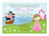 Pirate and Princess Birthday Invitations Princess and Pirate Birthday Invitation Zazzle