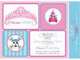 Pirate and Princess Birthday Invitations Princesses and Pirates Birthday Party Printable Invitation