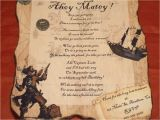 Pirate Birthday Invitation Wording Details About Pirate Birthday Party Invitations Favor
