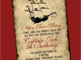 Pirate Birthday Invitation Wording Pirate Birthday Invitation
