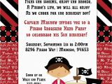Pirate Birthday Invitation Wording Pirate Party Kid Invitation