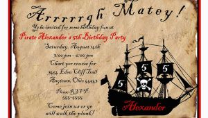 Pirate Birthday Invitation Wording Pirate Ship Birthday Party Invitations by Littlebeaneboutique