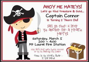 Pirate Birthday Invitations Template 40th Ideas Free Printable