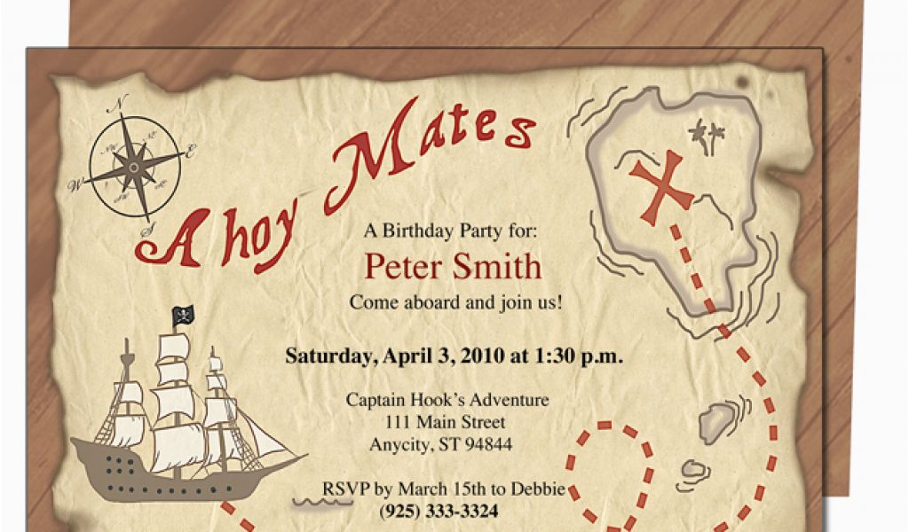 Download By SizeHandphone Tablet Desktop Original Size Back To Pirate Birthday Invitations Template