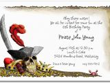 Pirate Birthday Party Invitation Wording Pirate 39 S Gold Birthday Party Invitations