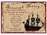 Pirate Birthday Party Invitation Wording Pirate Birthday Party Invitations Wording Free