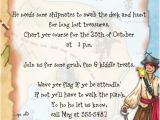 Pirate Birthday Party Invitation Wording Pirate themed Birthday Party Invitation Wording Pirate