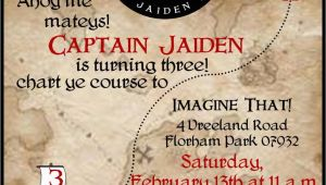 Pirate themed Birthday Party Invitations Pirate Birthday Party Invitations Wording Drevio