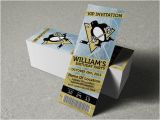 Pittsburgh Penguins Birthday Card Pittsburgh Penguins Birthday Party event Ticket Invitation