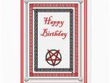 Plain Birthday Cards Plain Birthday Card for Satanist Demonolator Zazzle