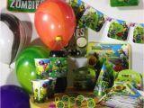 Plants Vs Zombies Birthday Decorations Plants Vs Zombies Happy Birthday Party Pack Supplies Free