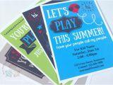 Playdate Birthday Party Invitations Boy Play Date Invitation Summer Birthday Printable Invite