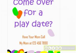 Playdate Birthday Party Invitations A Play Date Party Kids