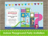 Playground Birthday Invitations Indoor Playground Invitation Inflatable Bouncy Printable