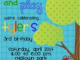 Playground Birthday Invitations Items Similar to Slide Swing and Play Playground Birthday