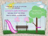 Playground Birthday Invitations Kids Park Invitation Playground Invitation by Invitationblvd
