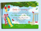 Playground Birthday Invitations Park Playground Birthday Invitation Printable or Printed with