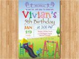 Playground Birthday Invitations Playground Birthday Invitation Kids Park Birthday Party
