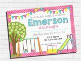 Playground Birthday Invitations Playground Birthday Invitation Park Birthday Invitation