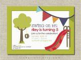 Playground Birthday Invitations Playground Birthday Party Invitation
