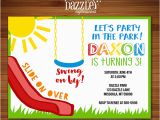 Playground Birthday Invitations Printable Playground Birthday Invitation Kids Party In