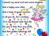 Poem for Birthday Girl Birthday Fairy Poem Message for A Girl Rooftop Post