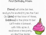 Poem for Birthday Girl First Birthday Poem Ideas Gi S 1st B Day Monster Bash