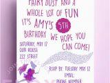 Poem On Birthday Girl Fairy Birthday Party Invitation Download Pdf Personalised