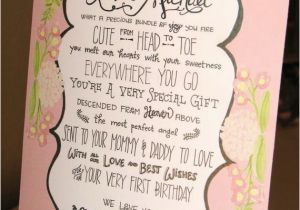 Poem On Birthday Girl Items Similar to Baby Girl 1st Birthday Poem Personalized