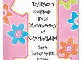 Poem On Birthday Girl Printable 1st Birthday Invitations Girls