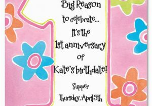 Poem On Birthday Girl Printable 1st Birthday Invitations Girls