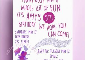 Poems for Birthday Girls Fairy Birthday Party Invitation Download Pdf Personalised