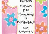 Poems for Birthday Girls Printable 1st Birthday Invitations Girls