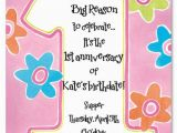 Poems for Birthday Girls Printable 1st Birthday Invitations Girls