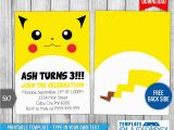 Pokemon Birthday Invitation Templates Free Pokemon Birthday Invitation Best Party Ideas