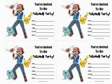 Pokemon Birthday Invitation Templates Free Pokemon Birthday Invitations Free Printable