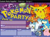 Pokemon Birthday Invitation Templates Free Pokemon Birthday Party Invitations 8 Pack Australia Ebay