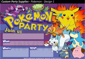 picture relating to Printable Pokemon Birthday Invitations called Pokemon Birthday Invitation Templates Totally free No cost Printable