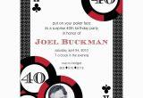 Poker Birthday Party Invitations Casino Poker Vegas Birthday Party Printable Invitation Red
